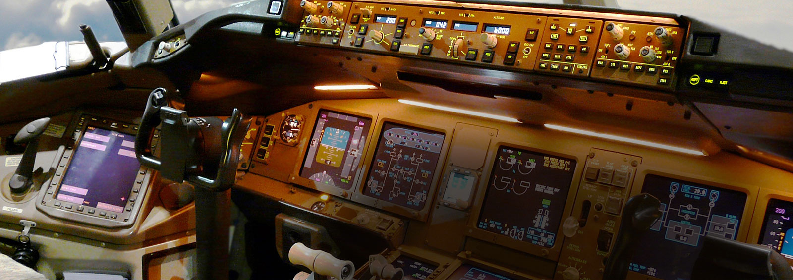 You will find our products both in: The Cabin (Panel & Displays) & Outside The Plane (Navigation & Guidance Equipment)